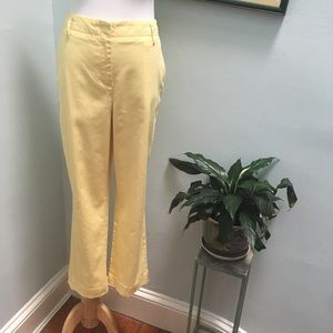 Brooks Brothers Yellow 346 Cropped Stretch Chinos